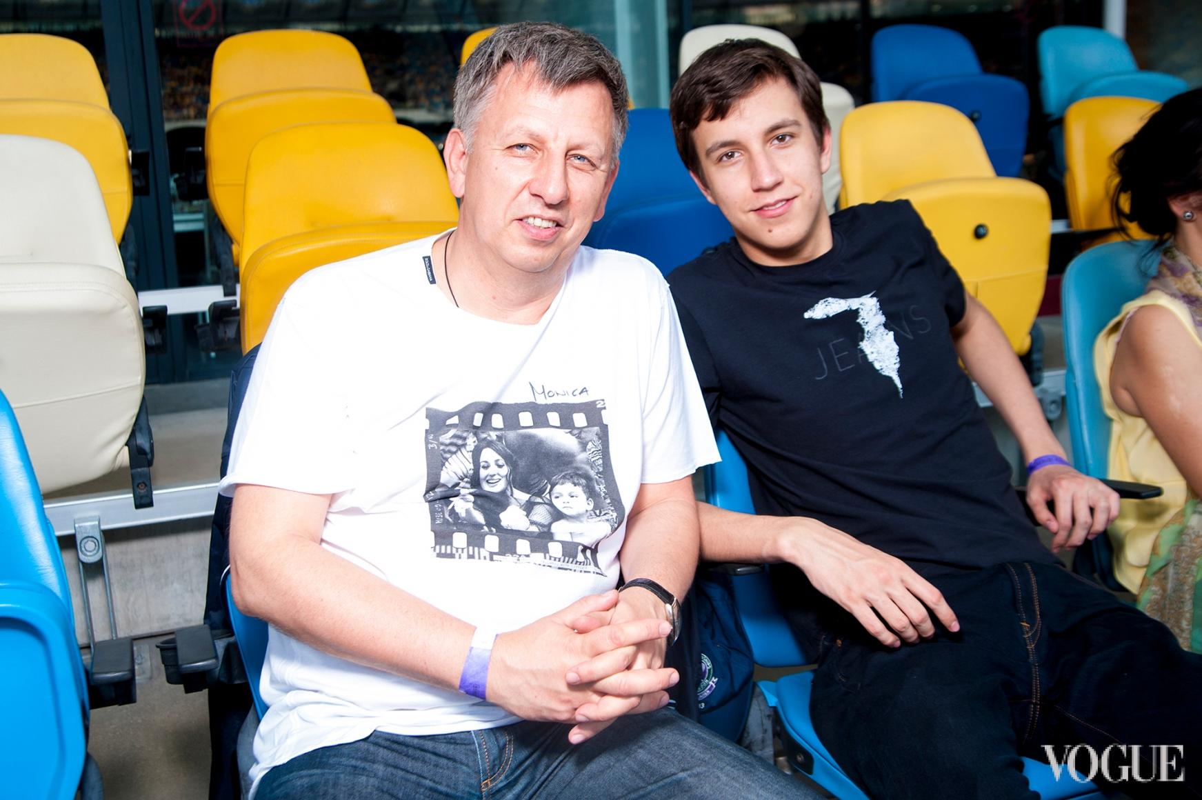 Владимир Макеенко с сыном