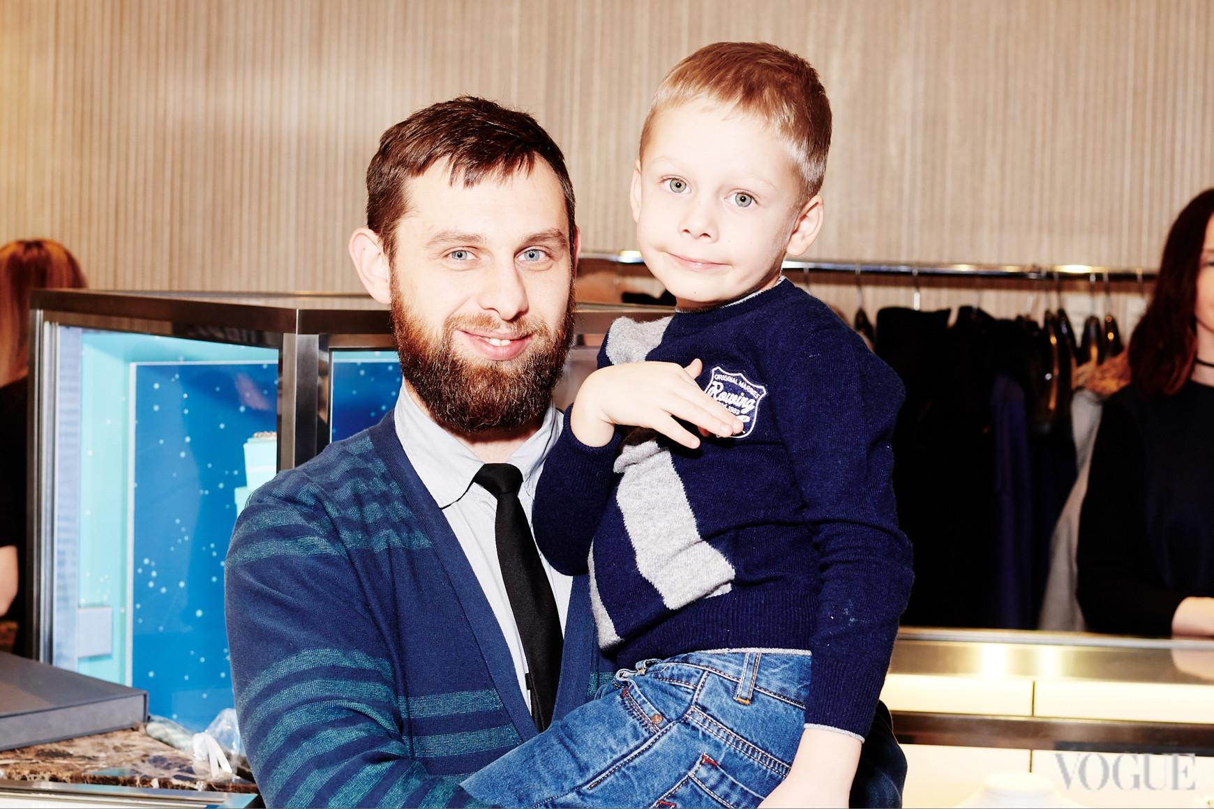 Александр Рудюк с сыном