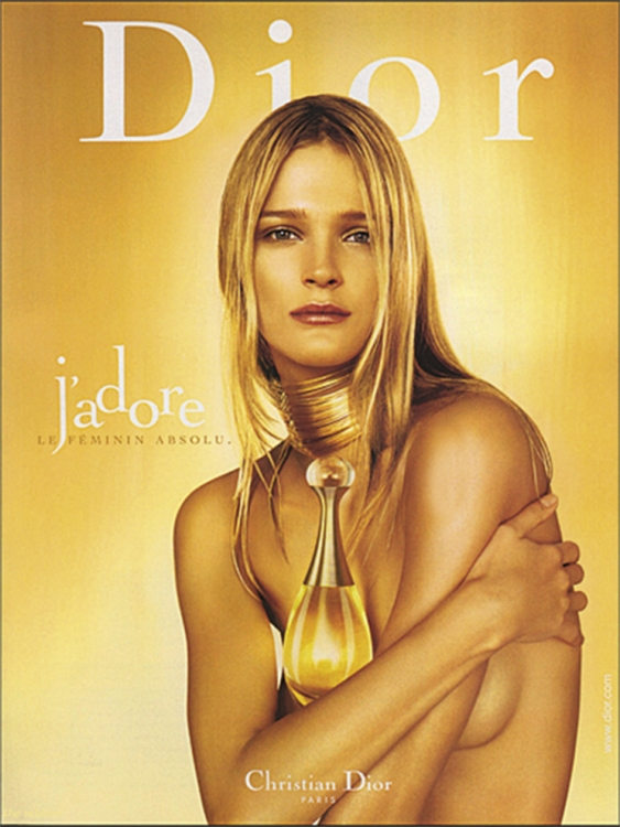 Кармен Касс в кампании Dior J'Adore, 2003. Фотограф: Жан-Батист Мондино