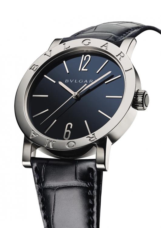Часы Roma 130th Anniversary Limited Edition, белое золото, ремешок из кожи аллигатора, лимитированная серия из 130 моделей, Bvlgari