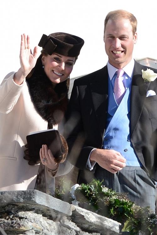 Кейт Миддлтон и принц Уильям в марте 2013 года