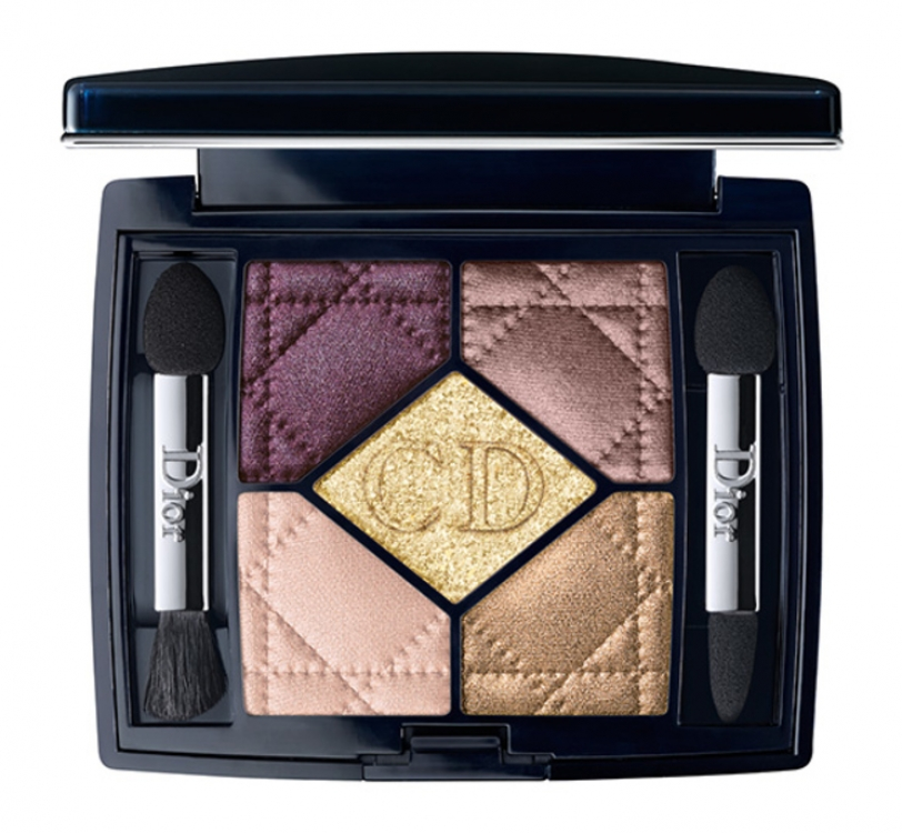 Набор теней 5 Couleurs из рождественской коллекции макияжа Golden Shock, №756 Golden Shock, Dior