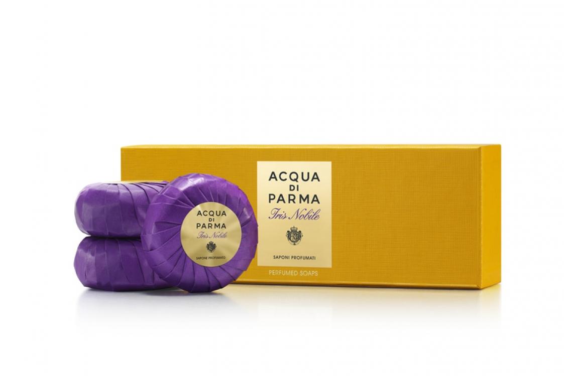 Парфюмированное мыло с нотами бледного ириса (Iris pallida), выращенного под Флоренцией, Iris Nobile, Acqua di Parma