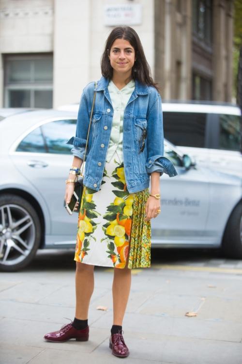 Блогер Леандра Медин в Rosie Assoulin, Нью-Йорк