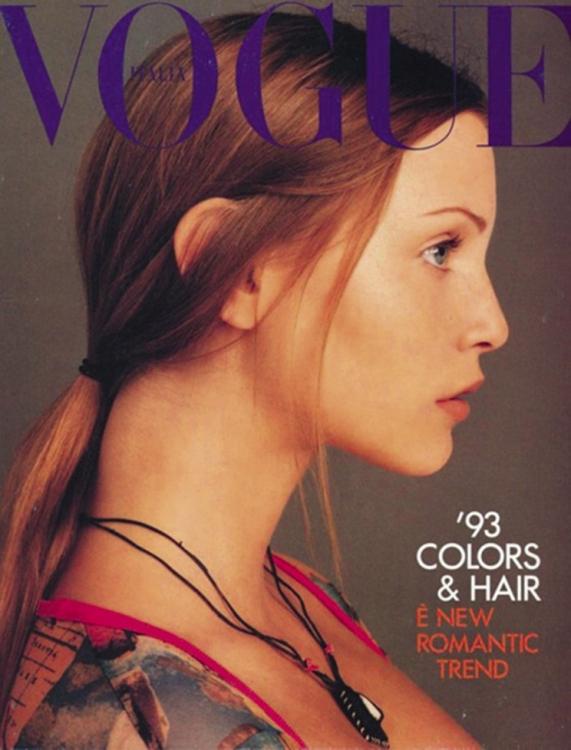 Итальянский Vogue, октябрь 1992. Фотограф: Стивен Мейзел