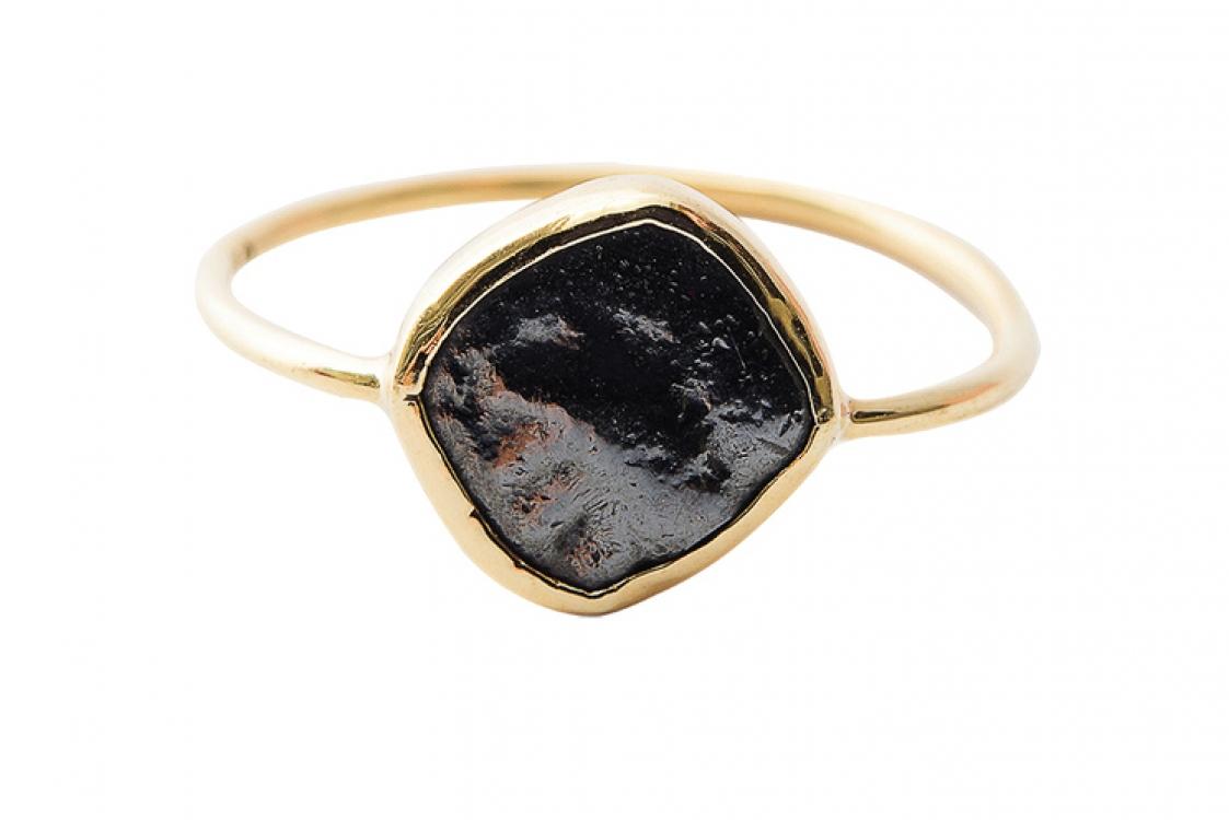 Кольцо Sikke, серебро с позолотой, старинная серебряная монета, Mathilde Danglade