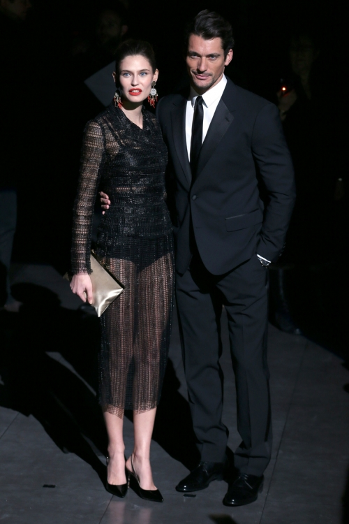 Бьянка Балти и Дэвид Ганди на шоу Dolce & Gabbana осень-зима 2013/2014