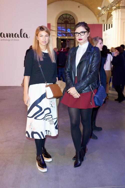 Яна Бучко (слева)