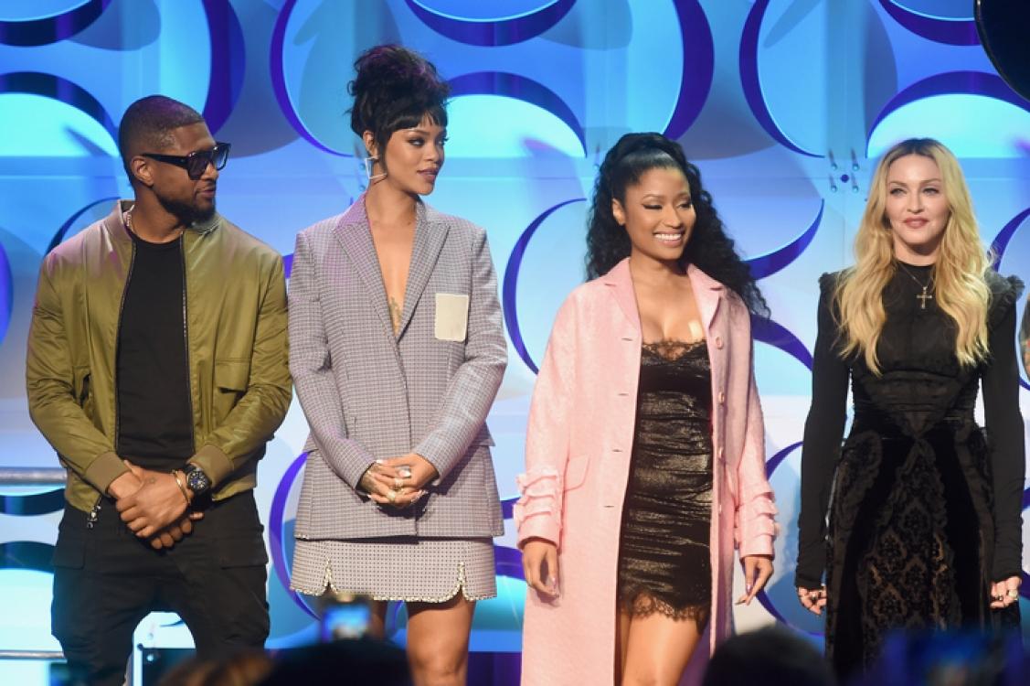 Usher, Рианна, Ники Минаж и Мадонна