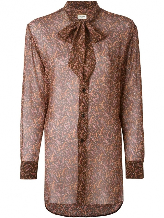 Блуза из шелка, Saint Laurent
