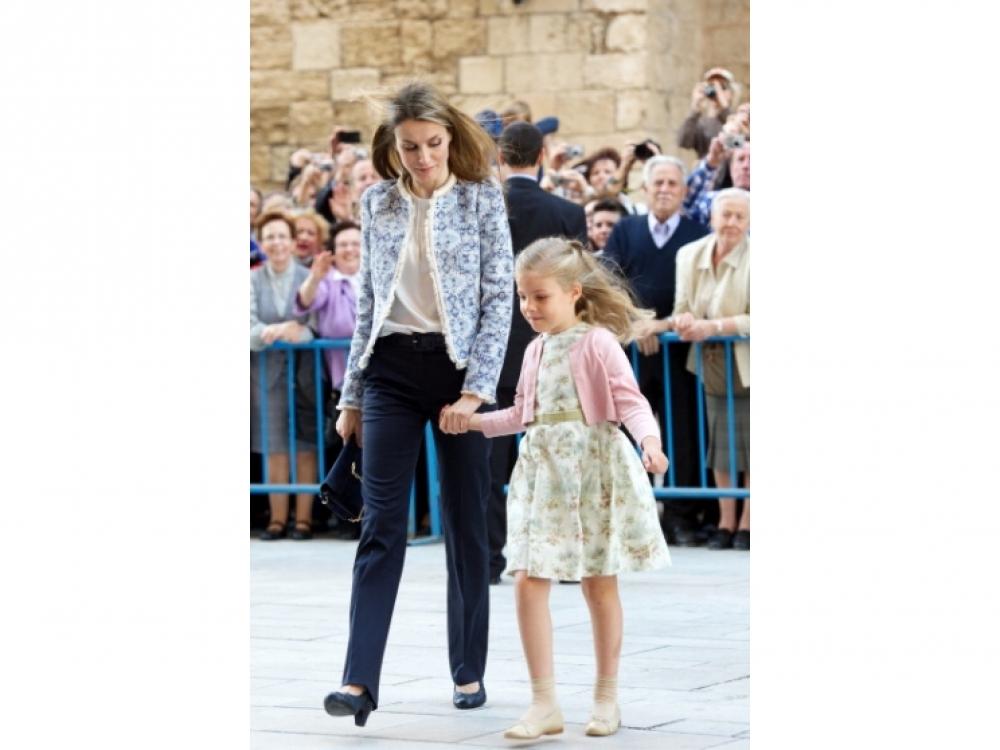 Принцесса Летиция с дочерью Принцессой Софией