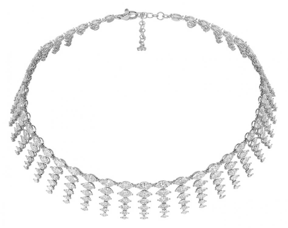 Колье из коллекции Red Carpet, платина, белые бриллианты огранки «маркиз» (95 карат), Chopard