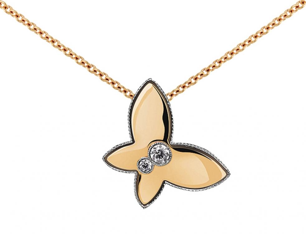 Кулон, розовое золото, бриллианты, Crivelli