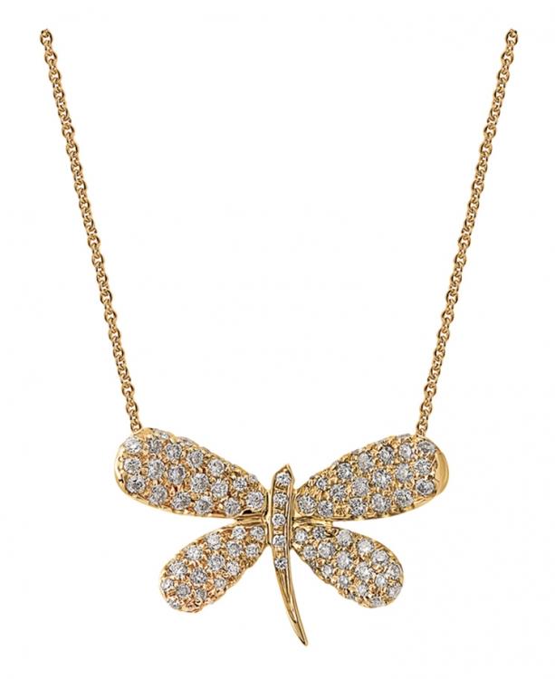 Кулон Nature, розовое золото, бриллианты, Staurino Fratelli