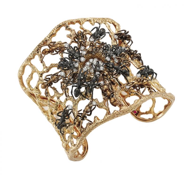 Браслет из коллекции Animalier, черное и желтое золото, Roberto Coin