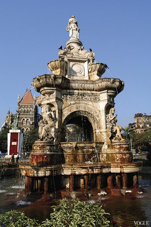 Фонтан Флора – одна из главных достопримечательностей Мумбая