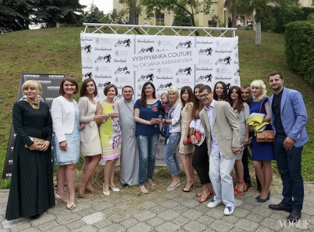 Оксана Караванская с гостями показа
