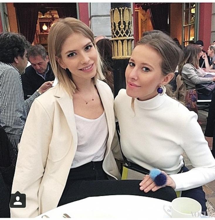 Елена Перминова и Ксения Собчак в украшениях Rock Ma Vie