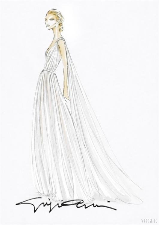 Эскиз свадебного платье Беатрис Борромео
