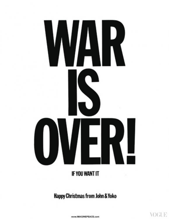Йоко Оно и Джон Леннон, War Is Over! If You Want It, 1969