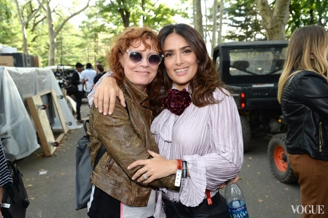Сьюзан Сарандон и Сальма Хайек