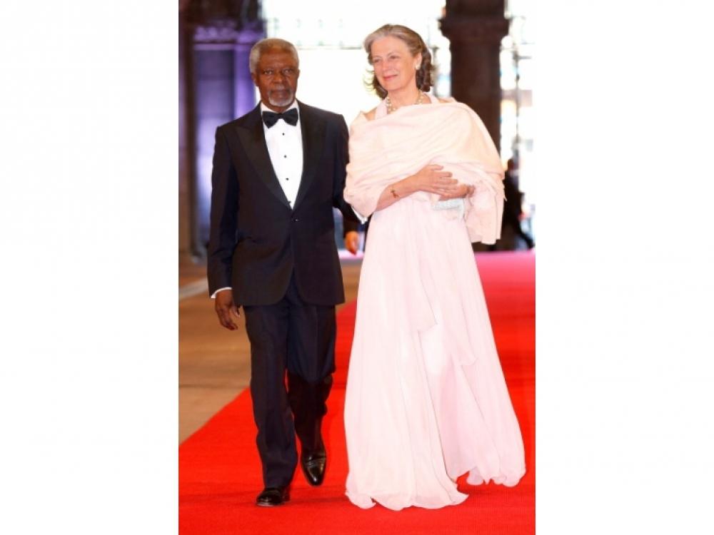 Кофи Аннан и Нана Мария Аннан