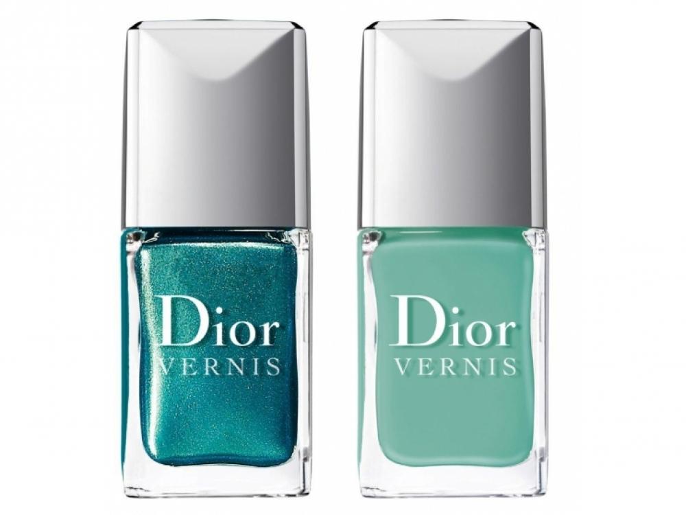 2.Лак для ногтей Summer Nail Lacquer Duo for Tips&Toes 001 Samba, Dior, коллекция Bird of Paradise