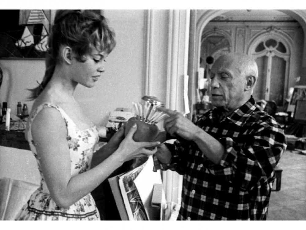 Бриджит Бардо и Пабло Пикассо 1956