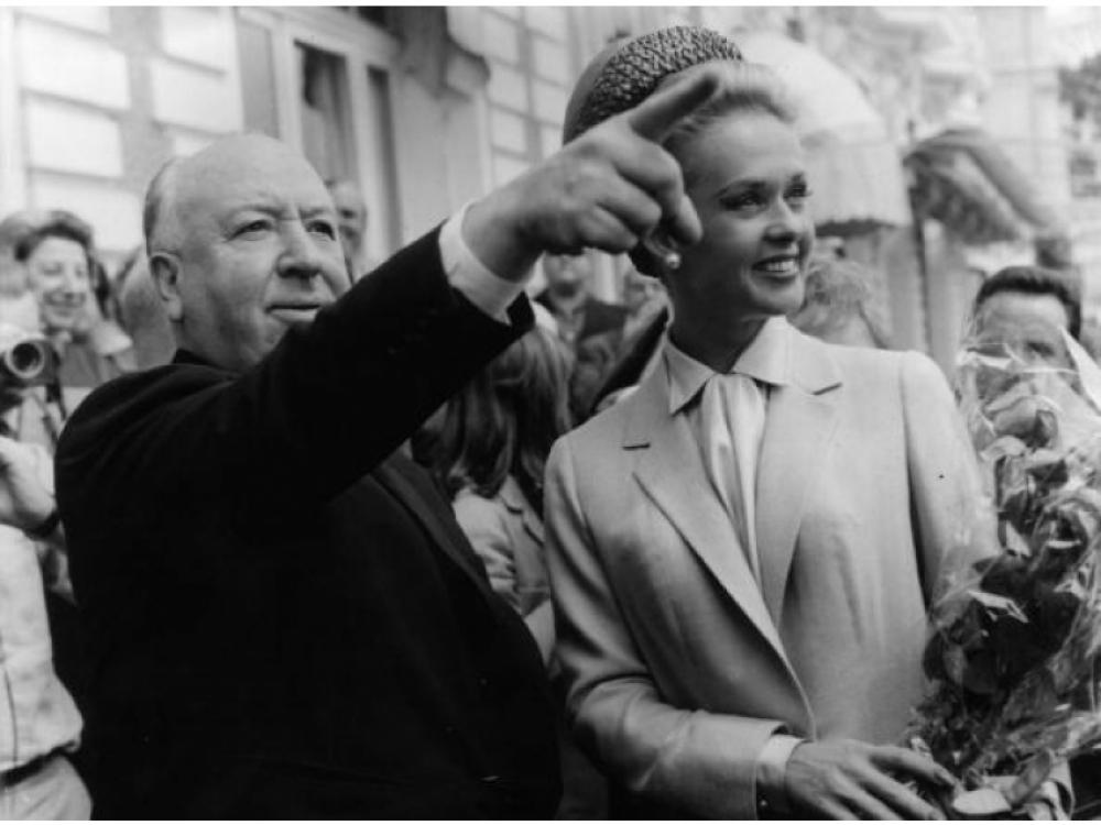 Альфред Хичкок и Типпи Хедрен 1963