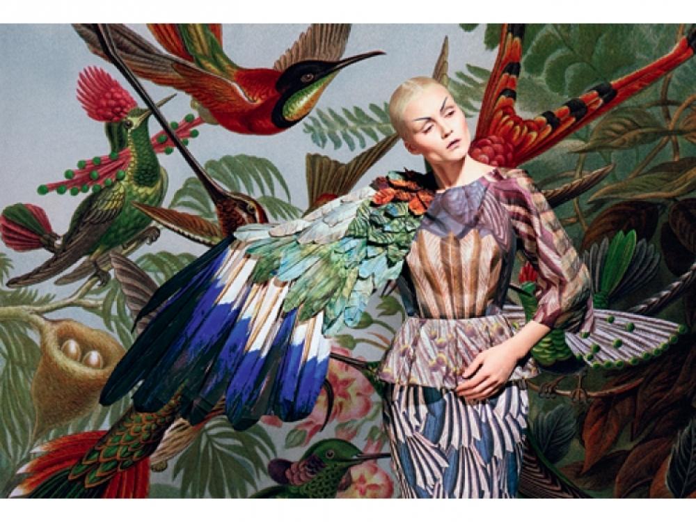 1. Модель Лола Дикова в проекте «Слияние», созданном совместно с дизайнером  Машей Ревой, 2012