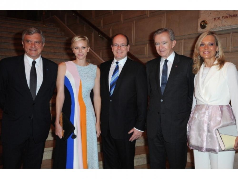 Сидни Толедано, Принцесса Монако Шарлин, Принц Монако Альбер II, Бернар Арно, Хелен Мерсье