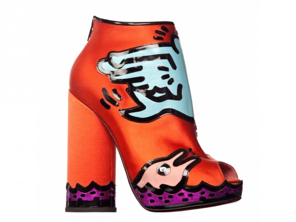 Ботильоны Nicholas Kirkwood x Keith Haring