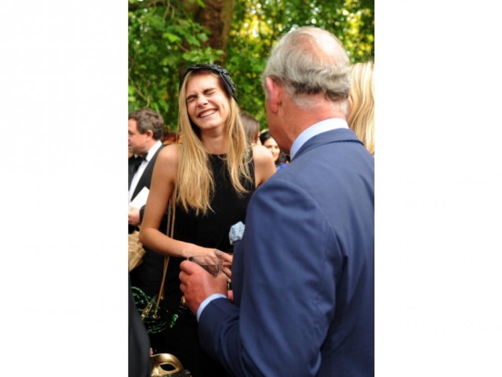 Кара Делевинь и Принц Чарльз