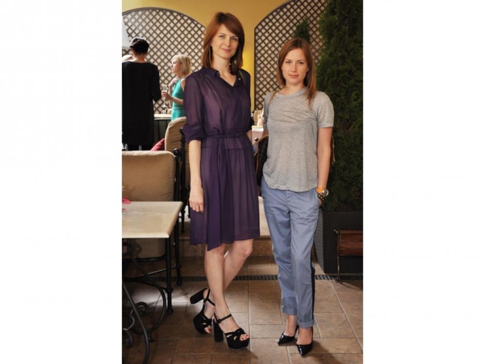 Екатерина Кулик (Prada) и Елена Силантьева (Louis Vuitton)