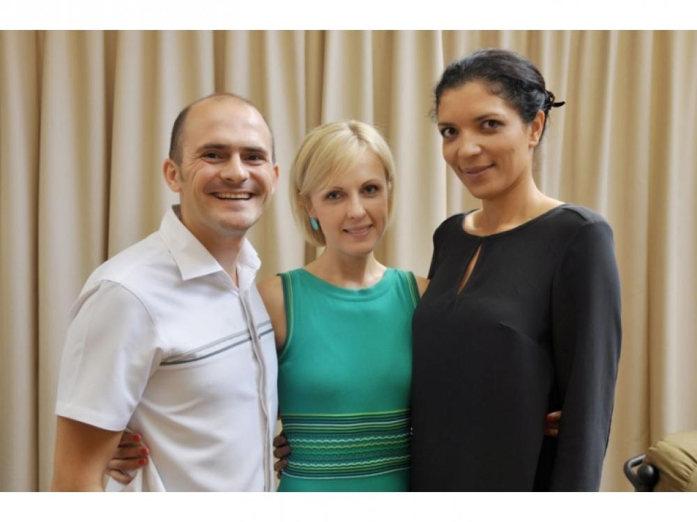 Игорь Кретов (MTI), Юлия Костецкая и Александра Писанкина (Vogue Украина)