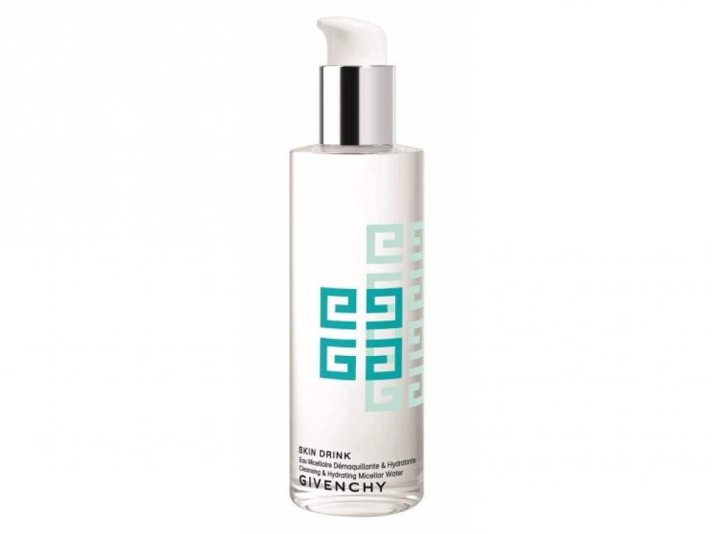 Skin Drink Cleansing & Hydrating Micellar Water, Givenchy. В составе: экстракт белого чая и увлажняющие компоненты. Борется со свободными радикалами и увлажняет