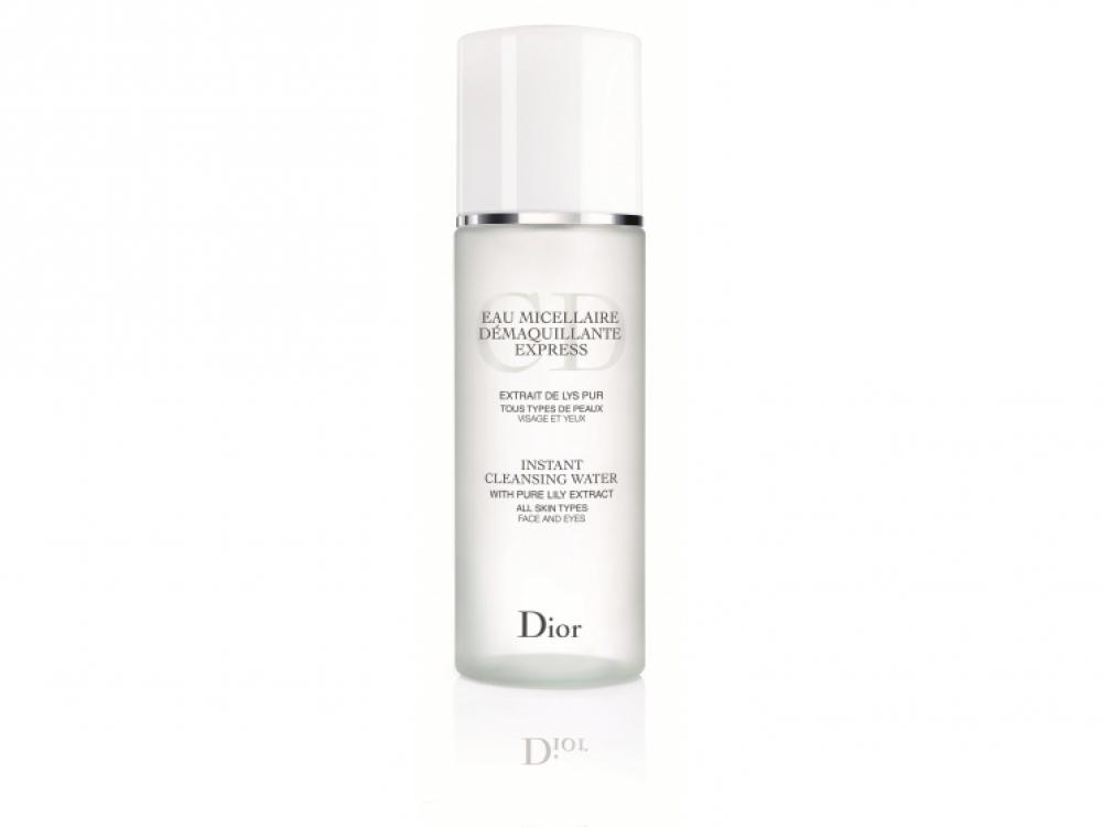 1.Eau Micellaire D?maquillante Express, Dior. В составе: экстракт чистой лилии. Придает коже нежность