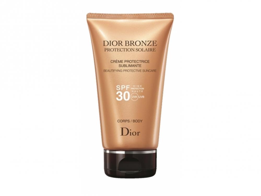 Крем для тела Dior Bronze Cr?me Protectrice Sublimante Body SPF30, Dior. Крем содержит перламутровые пигменты, которые придают коже сияние и легкий тон