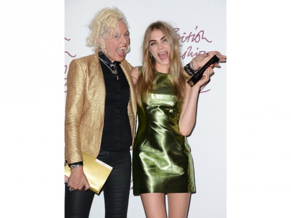 С Эллен фон Унверт на церемонии British Fashion Awards 2012