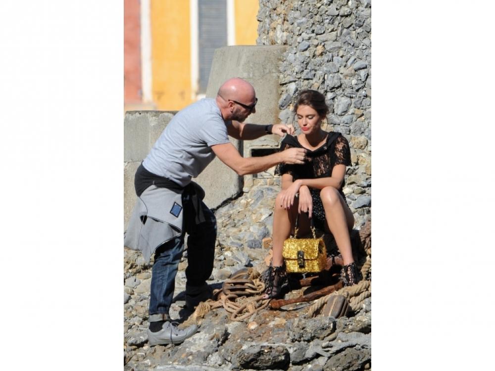 Во время съемок рекламной кампании S/S 2012 в Портофино