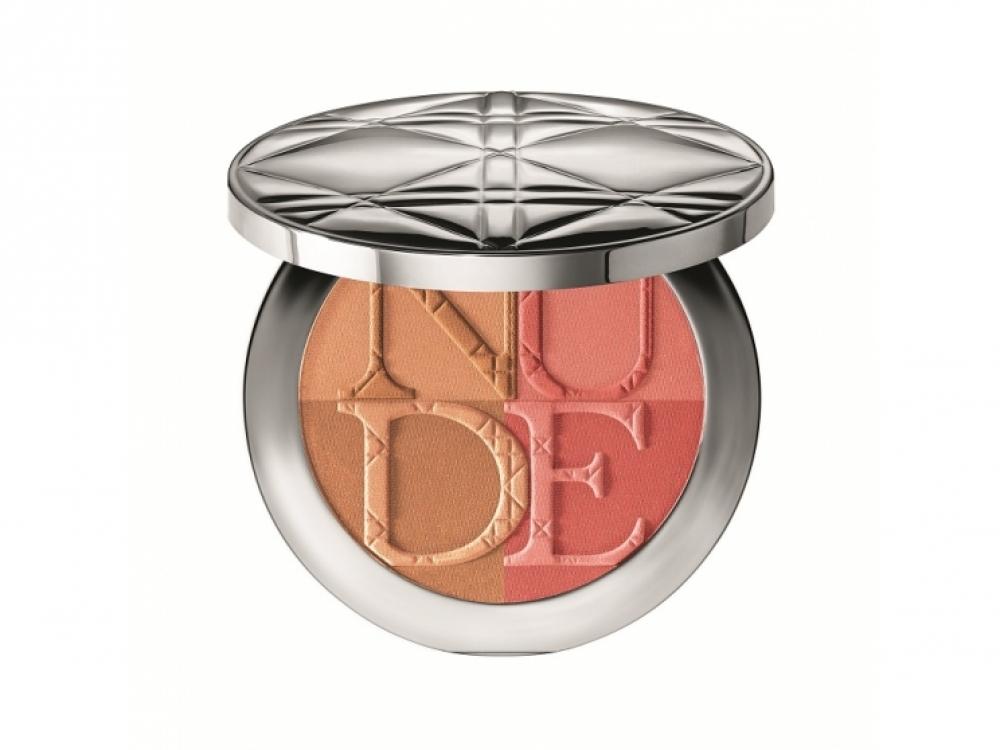 Компактная сияющая пудра-румяна Diorskin Nude Tan Paradise Duo, 002 Coral Glow, Dior