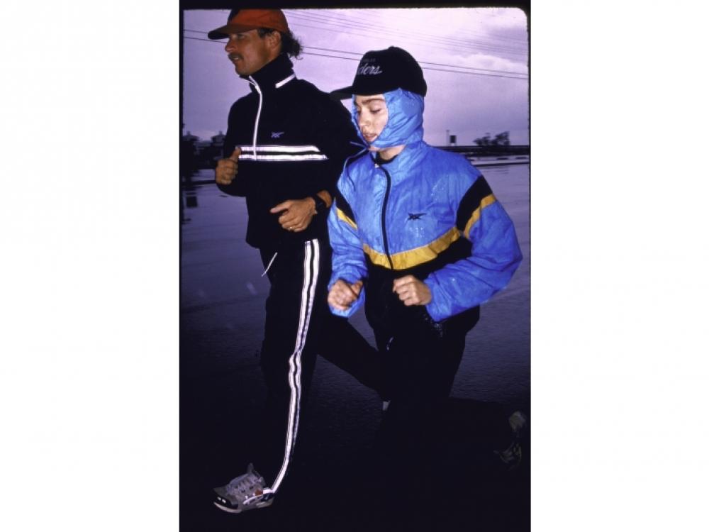 1987, на тренировке