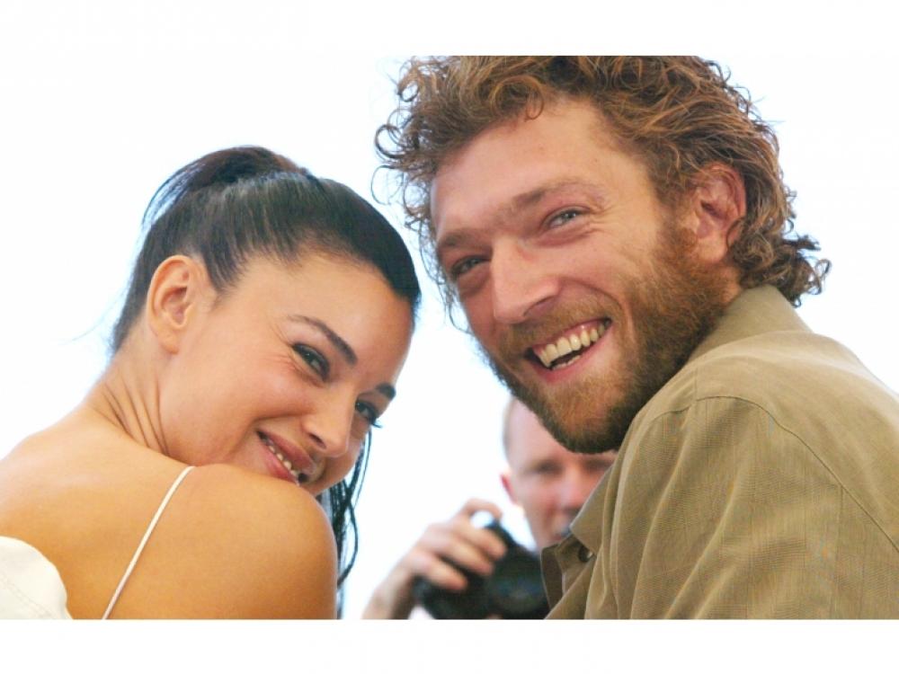 Моника Беллучи и Венсан Кассель в Каннах, 2002 год