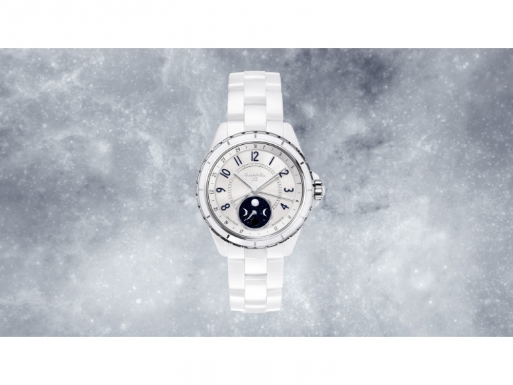Часы J12 Moonphase из белой керамики