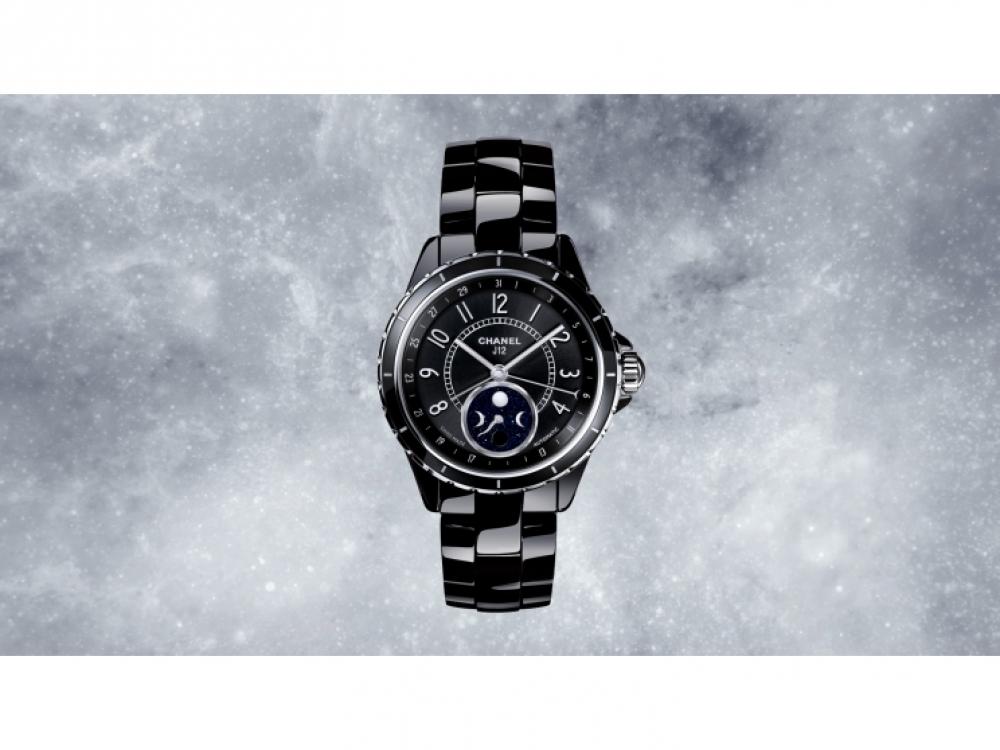 Часы J12 Moonphase из черной керамики