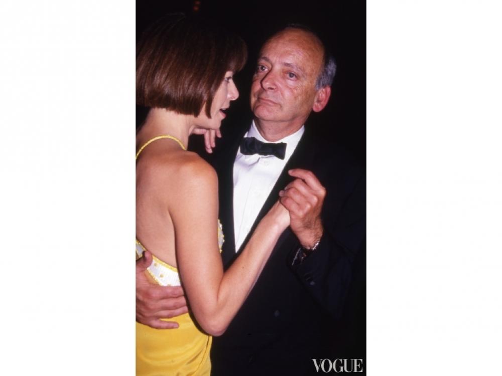Анна Винтур с мужем Дэвидом Шэффером (1990)