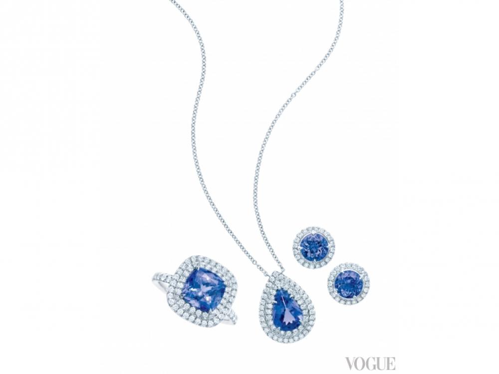 Кольцо, колье и серьги из коллекции Soleste, Tiffany?&?Co.