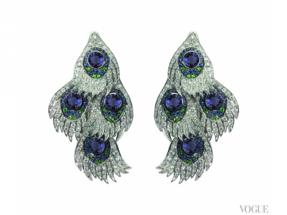Серьги из коллекции Peacock, Carrera y Carrera