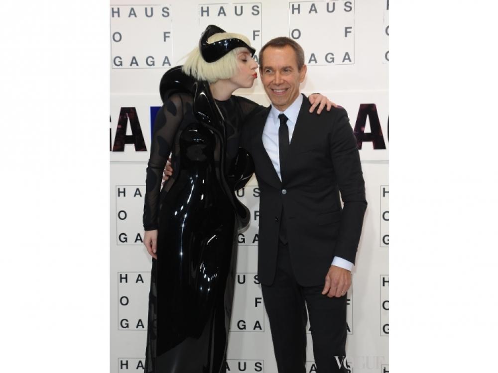 Леди Гага и Джефф Кунс