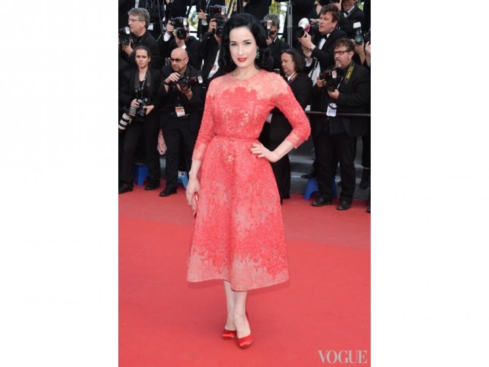 Дита фон Тиз в платье Elie Saab Couture